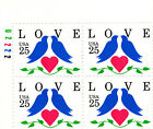 US Postage Stamps Pl BK Scott 2440 LOVE DOVES 4  25 cent