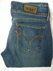 LEVIS 571 JEANS LADIES STRETCH SLIM FIT W29 L32 STRAUSS BLUE VINTAGE LEVF974