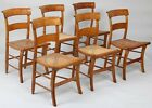 Set of (6) 19th century American tiger maple chairs Lot 319