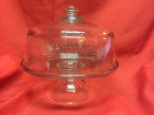 Vintage Clear Glass Pedestal Cake Plate/stand         [lot OWWH]