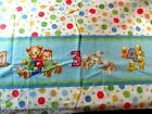 BABY NURSERY FABRIC BLUE JEAN TEDDY 1 2 3 4 DOUBLE BORDER 4 YARDS QUILTING SEW