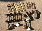 Brass Door Knobs With Door Plates- HUGE LOT- Victorian