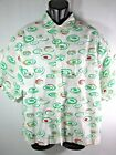 Union Bay Button Up S S Bowling Camp Shirt Vintage 80s Abstract Swirls Mens LRG