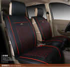​Black with Red Upscale PU Leather 7 Seater Business Car Seat Cover w/ Pillows