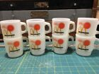 8 VTG ANCHOR HOCKING FIRE-KING McDONALD'S GOOD MORNING GLASS COFFEE CUPS MUGS