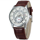 Sewor Mechanical Automatic Mens Fashion 40mm Date Gold Casual  Watch 125-2