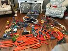 HUGE LOT OF VINTAGE HOT WHEELS TRACK STUNT COURSES BOOSTERS CARS