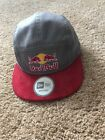 Red Bull Athlete Only Camp Hat Mx Moto Wakeboard Newera OSFA Red Gray Rare