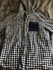 Red Bull Unisex Athlete Only Plaid Long Sleeve Hooded Shirt Very Rare Large L