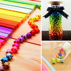 240pcs Origami Lucky Star Paper Strips Folding Paper Ribbons Colors QY