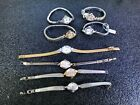 Lot of 8 Vintage Ladies Watches with 10K RGP Gold Case