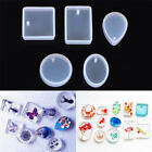 5pcs Silicone Mould Set Craft Mold For Resin Necklace jewelry Pendant Making V0