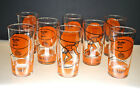 RARE- MINT VINTAGE RAWLINGS BASKETBALL GLASSES BY LIBBEY  (SET OF 8 GLASSES)