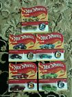 HOT WHEELS 2018 50th ANNIVERSARY RETRO REDLINE WITH BUTTONS 5 CAR SET UNPUNCHED