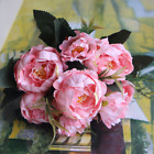 5 Heads Artificial Silk Fake Mini Peony Flowers Wedding Party Home Decor Pink