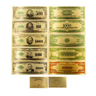 5pcs USA $500-100000 Dollar Gold Banknote Colorful World Money Golden Bank Notes