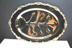 RARE-LEHMAN BROS. NEW YORK 24KT GOLD PLATED CARVING TRAY / PLATTER