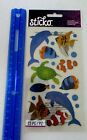 Sticko SEA ANIMALS Package of Metallic Shiny Stickers