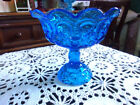L.E Smith Colonial Blue Moon and Stars Console Bowl 8
