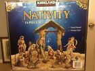 Kirkland Signature 14 Piece Porcelain Nativity Set HAND PAINTED Giant Figures