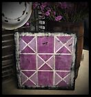 Handmade Heavily Distressed Sign-Small Tattered Quilt-EAAM