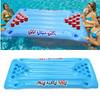 Blue Pool Party Inflatable Beer Pong Ball Floating Raft Lounge Game 5709x2362