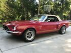 1968 Shelby Mustang GT350 Cobra 1968 Ford Shelby Mustang Cobra GT350 Convertible factory red, factory 4 speed!