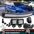 1999 2004 Jeep Grand Cherokee WJ Upper Roof 50 LED Light Bar+4 Pods Cube Combo