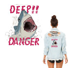 Large Animal Shark Patch Iron On Heat Transfer Embroidery Patch Applique DIY