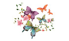 Large Butterfly Flower Patch Iron On Heat Transfer Applique for DIY Craft
