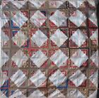 Queen Size Antique Quilt Courthouse Steps Log Cabin Handmade C 1860 17956