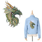 Large Mosaic Animal Green Dragon Patch Iron On Heat Transfer Applique for DIY C