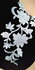 Large White off Floral Patch Iron OnHeat Transfer Embroidery Applique for DIY