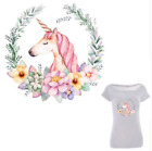 Large Unicorn Floral Patch Iron On Heat Transfer Embroidery Applique for DIY Cr