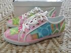 New COACH Dawnell Patchwork pastel pink sneakers 75