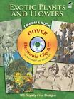 Exotic Plants and Flowers CD ROM and Book Dover Electronic Clip Art
