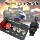 Carbon Fiber Racing Car 12V LED Ignition Switch Panel Engine Start Push ButtonPE