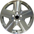 OEM Reman 17x7 Alloy Wheel Rim Sparkle Silver Textured with Machined Face 7033