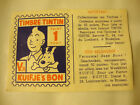 TIMBRE POINT TINTIN ancie et rare 1 point