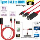 USB C Type-C to HDMI HDTV TV AV Adapter Cable 4K For Samsung Macbook Huawei RF