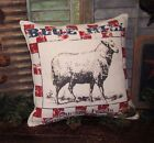 Primitive Farmhouse Country Farm Barn Yard SHEEP Lamb GRAIN FEED SACK 16