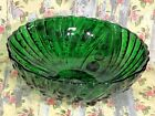 Serving Bowl Vintage Forest Green Anchor Hocking Burple Hobnail 8 1/2