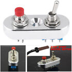 Aluminum Motorcycle Handlebar Engine Stop Start Kill Lever Double Switch Button