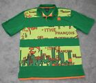vtg 90s Marithe Francois Girbaud Le Jean POLO SHIRT Men XL X LARGE Green Striped