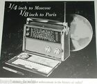 1959 Admiral ad, All World model 909 short wave radio