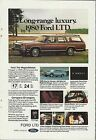 1980 FORD LTD Wagon advertisement, Ford LTD ad, Country Squire Station Wagon