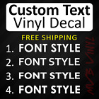 Bold Vinyl Decal Sticker Text Caps Window Custom Personalized Lettering 628