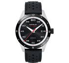 Man watch MONTBLANC TIMEWALKER date automatic silver and black 41 mm 116059 New