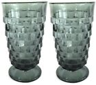 Indiana Whitehall Cubist RIVERA BLUE  Set Lot of 2 Cooler Tall 14oz Glasses