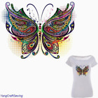 Large Mosaic Butterfly Patch Iron On Heat Transfer Embroidery Patch Applique DI